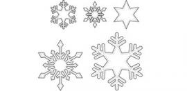 Marianne Quilt stencil sneeuwsterren Qu0603