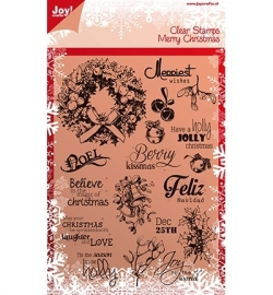 Joy! Noor! Design 6410/0114 Merry Christmas