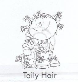 Nellie`s clearstamp Schoffie`s Taily Hair 004