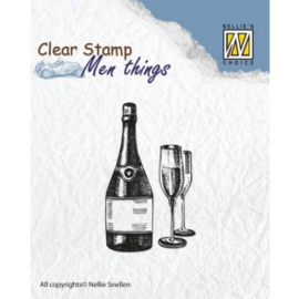 NS Clear stamps - Men things - Wine CSMT003