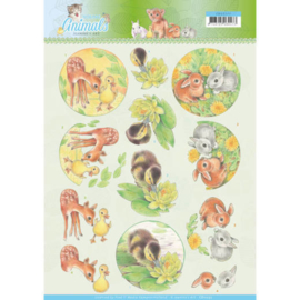 CD11272 3D knipvel - Jeanine's Art - Young Animals - Ducklings and Rabbits