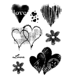 Woodware Clear Stamp Set FRS675 - Heart Collection