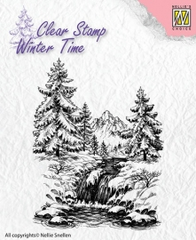 NS Clear Stamps - Winter Time - Winter waterfall  WT004