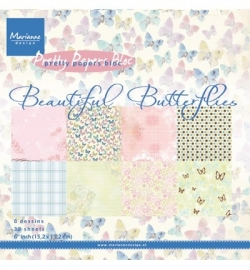 MD Pretty papers Beautiful Butterflies 15x15