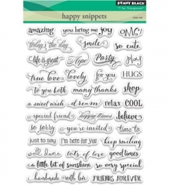 Penny Black Clearstamp Happy snippets 30358