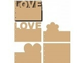 Let`s get bizzee MDF Scrapbook Love formaat A5