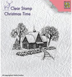 NS Clearstamp Idyllic winter scene CT019