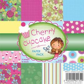 Wild rose Studio Paperpack Cherry cupcake PP012