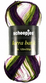 Lara Batik 7507 Paars/groen/rose/wit 50gr/125m