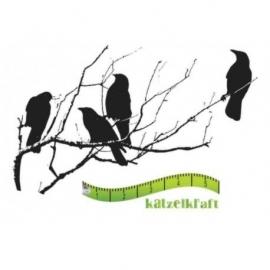 KatzelKraft rubberstempel KTZ44 Corbeaux silhouette