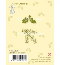 Leane Creatief Clear Stamp - Christmas branches 55.9838