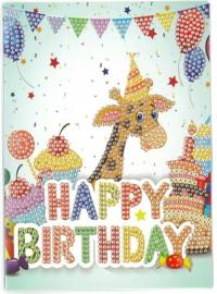 Happy Birthday Giraf 13 x 18 cm