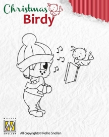 NS Clear Stamp Christmas Birdie - Christmas song BC002