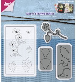 Joy! Snijmal + stempels Mery's Aardbeien 6004/0019