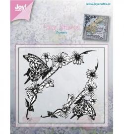 Joy! Clearstamp Bloem met vlinder 6410/0378