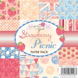 WRS paper pack strawberry picnic PP027