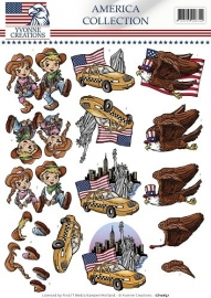 3D Knipvel - Yvonne Creations - America Collection - Cowboy & girl CD10657