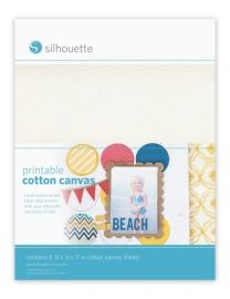 Printable Cotton Canvas pakket van 8 vellen 216x297mm