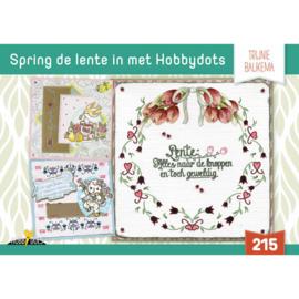 Hobbydols 215 Spring de lente in met Hobbydots - Trijnie Baukema