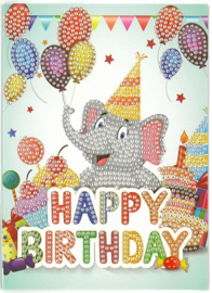 Happy Birthday Olifant 13 x 18 cm