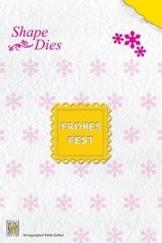Nellie`s Shape Die Text Fohes Fest