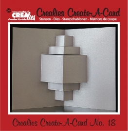 Crealies Create A Card no. 18 stans voor kaart CCAC18
