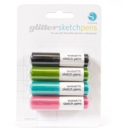 Silhouette Sketch pens glitter