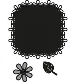 Craftables CR1249 Square & flower - stitch