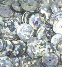 Pailletten facon 6mm Disco Silver