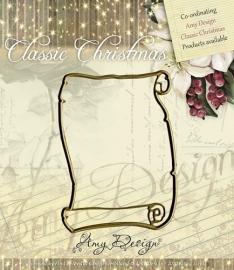 Amy Design - Die - Classic Christmas - Scroll ADD10019