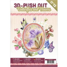 3DPO10013 - 3D uitdruk vellen boek Bloemen