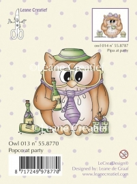 Clear stamp Owl Popco at party 55.8770