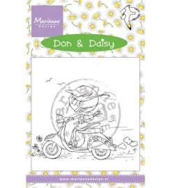 MD Clearstamp Don & Daisy Scooting Daisy DDS3349