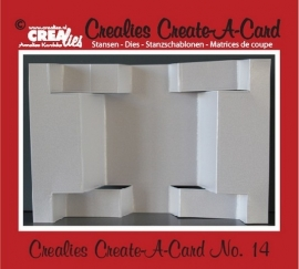 Crealies Create A Card no. 14 stans voor kaart CCAC14 / 13,5 cm x 21 cm