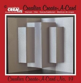 Crealies Create A Card no. 19 stans voor kaart 14,5 x 21 cm / CCAC19