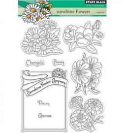 Penny Black Clearstamp Sunshine flowers 30357