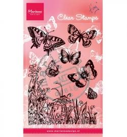 MD Clearstamp Vlinders en bloemen CS0926
