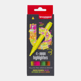 Bruynzeel Highlighters set neon 4 colours
