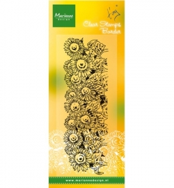 MD Clearstamp Tiny's border - Sunflowers TC0836