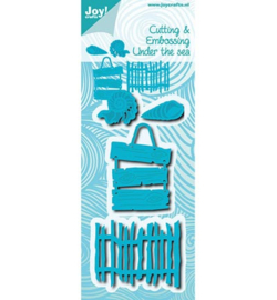 Joy Crafts » Cutting & Embossing Schelpen, tekstbord en hek 6002/0653