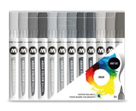 Molotow Aqua brush set Grey