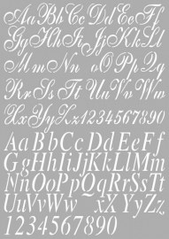 Dutch Doobadoo Dutch Stencil Art A4 Alphabet 2 470.455.002
