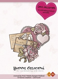 Yvonne Creations  Stamps  Love  Heart CDST10016