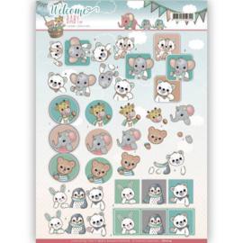 3D-Knipvel - Yvonne Creations - Welcome Baby - Animal Art CD11114