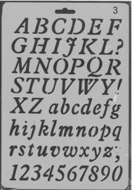Sjabloon Alfabet 3