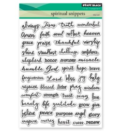 PB clearstamp Spiritual Snippets 30-404