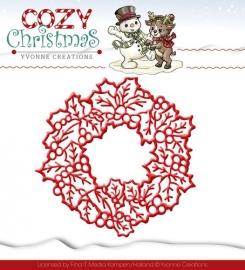 Die - Yvonne Creations - Cozy Christmas - Wreath YCD10035