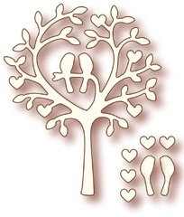 Wild Rose Studio`s Specialty die - Love Bird Tree SD009