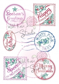 Wild Rose Studio Christmas Labels CL353