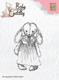 NS Clear Stamps - Baby Cuddles - Cuddly Girl CSBC002